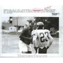 1990 Press Photo Former pro and college football player Jerome Barkum