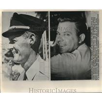 1961 Press Photo Eastern Air Lines Electra pilot W.E. Buchanan plane hi-jacked