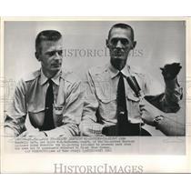 1961 Press Photo John Yandell and W.E. Buchana describe hi-jacking incident