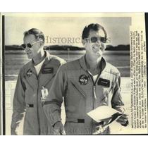 1973 Press Photo Gerald P. Carr and William P. Pogue , Skylab Astronauts