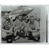 1961 Press Photo Maj William Stringfellow, Capt Donald Kallum, 1st Lt Yale Davis