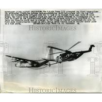 1967 Press Photo Air Force attempt first Trans Atlantic helicopter flight