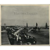 1954 Press Photo Airplane Scene at New Orleans International Airport - nox18475