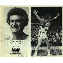 Press Photo Seattle SuperSonics basketball center Dennis Awtrey - sas06469
