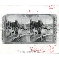 1898 Press Photo A Real Live Cowboy by T.W. Ingersoll From Saint Paul, Minnesota