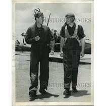 1941 Press Photo Flying Cadet James Doolittle instructed by Kline Culbertson
