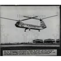 1953 Press Photo YH16 Helicopter of United States Air Force on its test flight