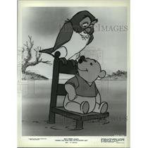 1968 Press Photo Owl and Pooh in Winnie the Pooh and the Blustery Day, on NBC.