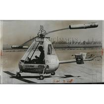 1952 Press Photo New XH-26 Jet Copter shown during first public demonstration