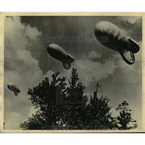 1943 Press Photo U.S Army Balloon at Camp Tyson Tenn, Barrage Training Center