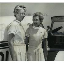 1970 Press Photo Fliers Juanita Holstead, Nancy Beeland, International Air Race