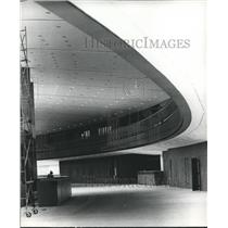 1972 Press Photo Indoor View of Balcony at Birmingham Municipal Airport, Alabama