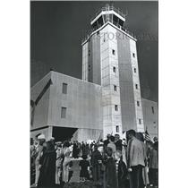 1964 Press Photo Crowd Gathers for Control Tower Dedication, Birmingham, Alabama