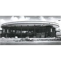 1972 Press Photo Rotunda at Birmingham Municipal Airport Terminal Underway