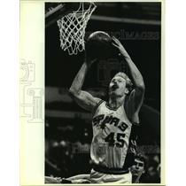 1985 Press Photo San Antonio Spurs basketball player Jeff Cook - sas06236