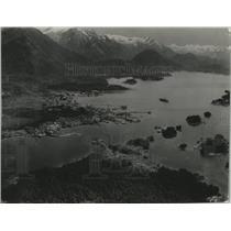 1936 Press Photo Historical town of Sitka along the coast of Alaska - lrz01154