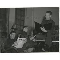 1941 Press Photo Lounging Room in the main Cadet Barracks at Kelly Field