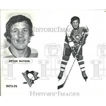1973 Press Photo Bryan Watson Pittsburgh Penguins NHL - RRQ20951