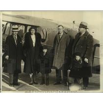 1930 Press Photo Capt. J. Errol Boyd, Lt. Harry Conner return to NY - lrz01913
