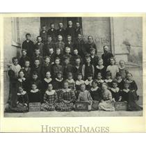 1895 Press Photo Second grade class, now the Forest Home Avenue school.