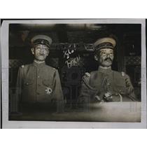 1918 Press Photo Japanese Troop officers take over prisoners in Siberia