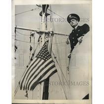 1944 Press Photo Lt. Gardner Navy Fighter and Ranking Tennis Star - nem59767