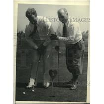 Press Photo Capt Hawks & Charles M Hawks Enjoy Playing Golf on Riviera Links