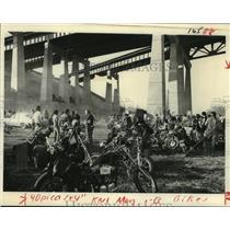 1978 Press Photo Motorcyclists Anti-Helmet Rally, Hudson River - tua09303