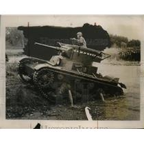 1935 Press Photo Red Army tank seen during the Army Tactical Maneuvers