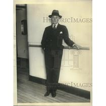 1928 Press Photo speed king Capt. Malcolm Campbell sailing for England