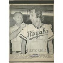 1975 Press Photo Kansas City Royals Norm Angelini - RRQ38555
