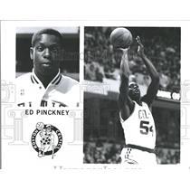 Press Photo Ed Pinckney Boston Celtics Basketball - RRQ49855