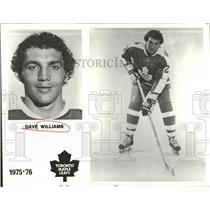 1976 Press Photo Toronto Maples Leafs David Williams - RRQ50055