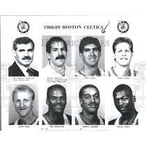 1988-1989 Press Photo Boston Celtics Basketball Team - RRQ50145