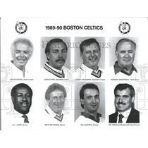 1989 Press Photo Boston Celtics Jim Rodgers Lanny Van - RRQ50149