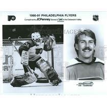 1990 Press Photo Philadelphia Flyers Goalie Ken Wregget - RRQ50355