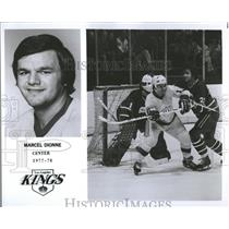 1977 Press Photo Los Angeles Kings Roster Dionne Center - RRQ50471