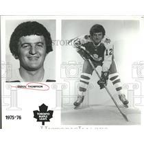 1974 Press Photo Toronto Maple Leafs Player Thompson - RRQ50555
