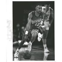 1992 Press Photo Philadelphia 76ers Johnny Dawkins - RRQ51139