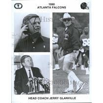 1990 Press Photo Jerry Glanville Atlanta Falcons coach - RRQ53031