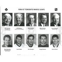 1996 Press Photo Toronto Maple Leafs Cliff Flet Mike - RRQ53843