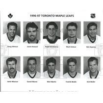 1996 Press Photo Toronto Maple Leafs Jamie Macoun - RRQ53847