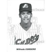 1900 Press Photo Wilfredo Cordero Nieva outfielder - RRQ60537