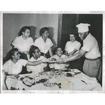 1953 Press Photo Jersey Joe Walcott Rocky Marciano Heav - RRQ13321