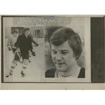 1976 Press Photo Bobby Orr Practice Worried Look Bruins - RRQ15305