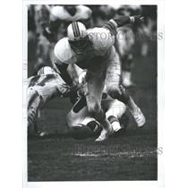1977 Press Photo Miami Dolphins Bokamper Gets Fumble - RRQ64259