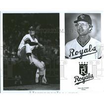 1981 Press Photo Paul Splittorff Major League Baseball starting pitcher
