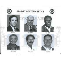 1986 Press Photo Boston Celtics Coaching Staff Roster - RRQ55961