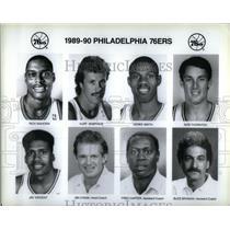1989 Press Photo Philadelphia 76ers Roster Publicity - RRQ45301