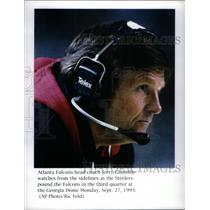 1993 Press Photo Atlanta Falcons head coach Jerry Glanv - RRQ42177